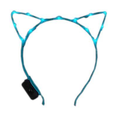 Aqua LED Kitty Cat Ear Headband All Products
