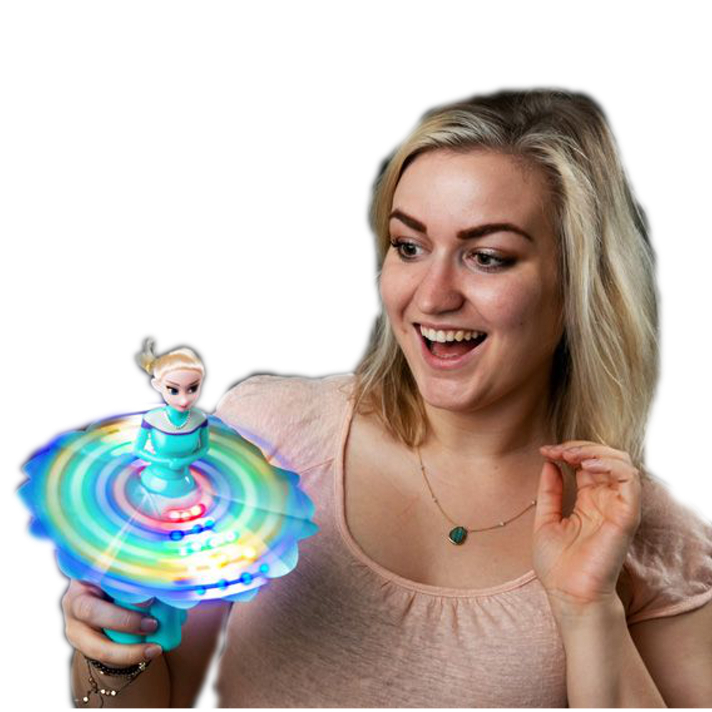 Musical Light Up Flashing Frozen Ice Princess Spinning Wand All Products