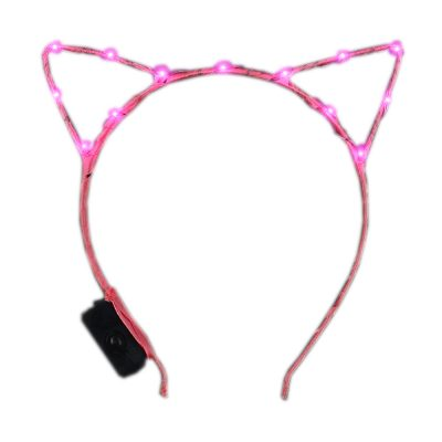 Pink LED Kitty Cat Ear Headband All Products