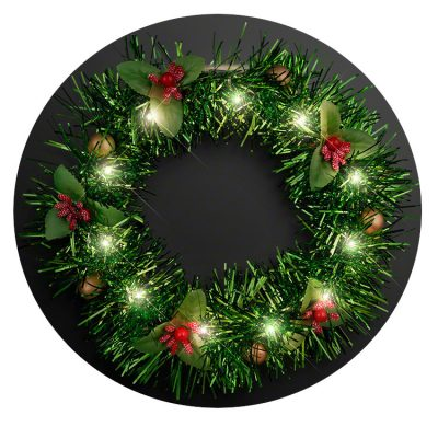 Light Up Christmas Wreath Crown Lighted Headband Christmas Light Up Headbands