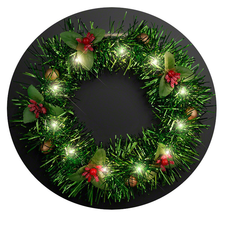Light Up Christmas Wreath Crown Lighted