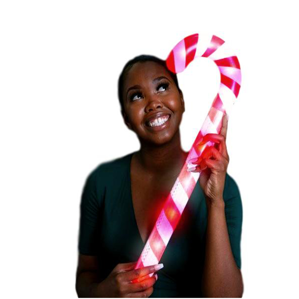 23 Inch Light Up Candy Cane Christmas Wand All Products