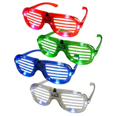 Assorted Slotted Rock Star Shutter Sunglasses Pack of 12 All Products