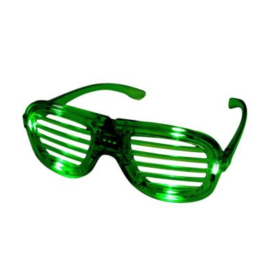 Green Slotted Rock Star Shutter Sunglasses Pack of 6 All Products