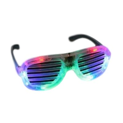 Multicolor Slotted Rock Star Shutter Sunglasses Pack of 6 All Products