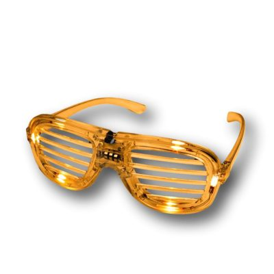 Orange Slotted Rock Star Shutter Sunglasses Pack of 6 All Products
