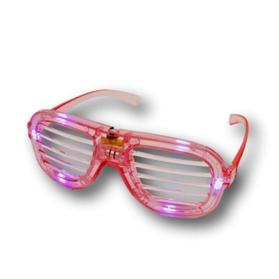 Pink Slotted Rock Star Shutter Sunglasses Pack of 6 All Products