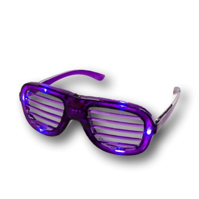 Purple Slotted Rock Star Shutter Sunglasses Pack of 6 All Products