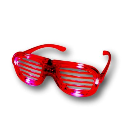 Red Slotted Rock Star Shutter Sunglasses Pack of 6 All Products