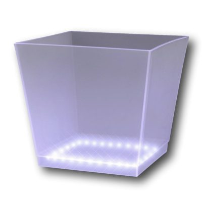 Light Up Chilled Cube Ice Bucket White All Products