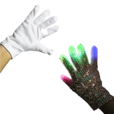 Flashing Multicolored Right Hand Rock Star Sequin Glove All Products