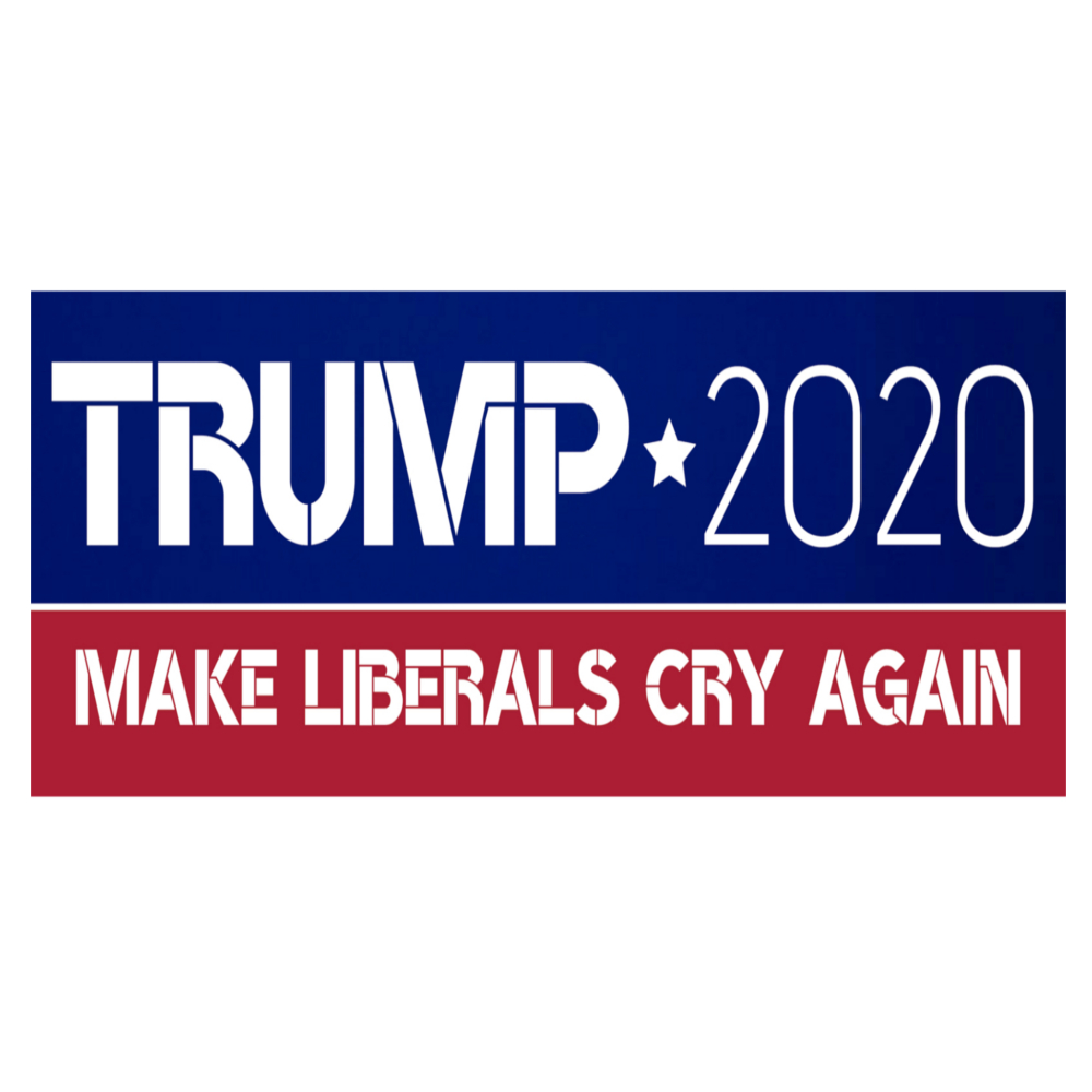 3 DONALD TRUMP BUMPER STICKERS  2020