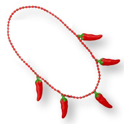 Non Light Up Five Jumbo Charm Chili Pepper Necklace for Cinco de Mayo All Products