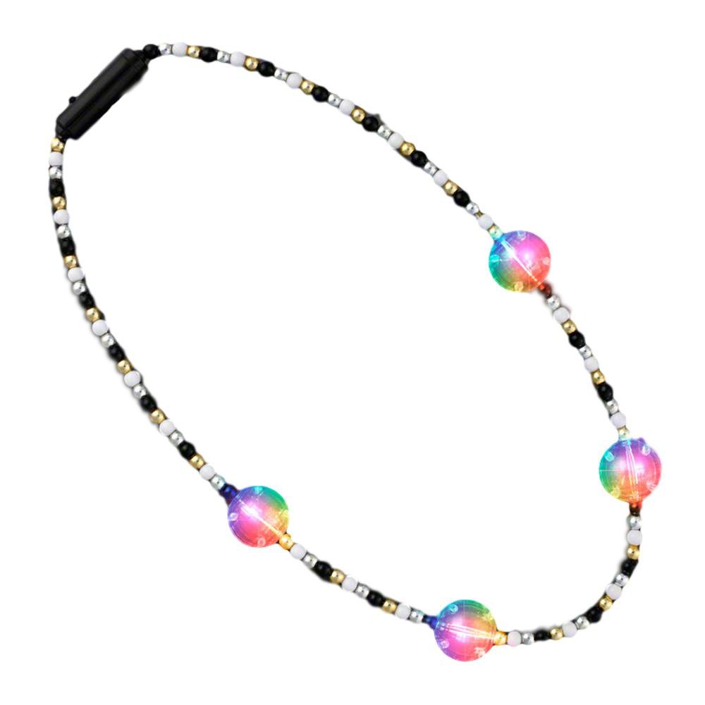 Flashing Multicolor Disco Prism Balls Fancy Party Necklace All Products