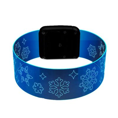 Snowflake Cosmic Blue LED Bracelets Magnetic Clasp All Products