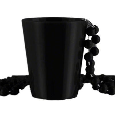 Non Light Up Black Shot Glass on Black Beaded Necklaces All Products