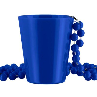 Non Light Up Blue Shot Glass on Blue Beaded Necklaces All Products