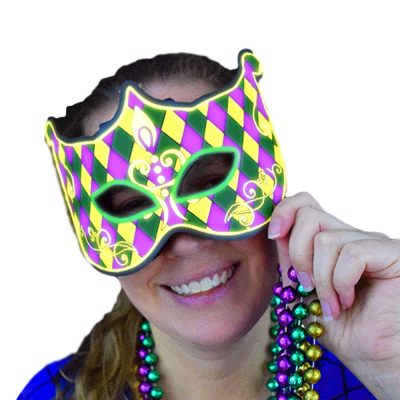 EL Electroluminescent Mardi Gras Mask Sound Activated All Products