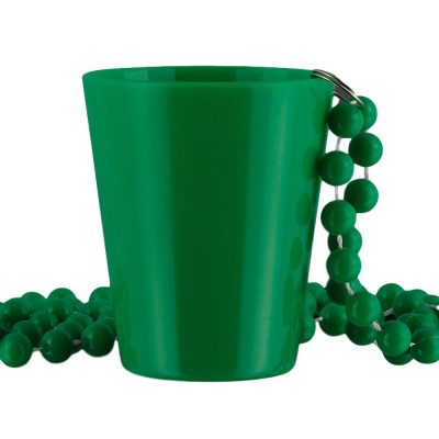 Non Light Up Green Shot Glass on Green Beaded Necklaces All Products