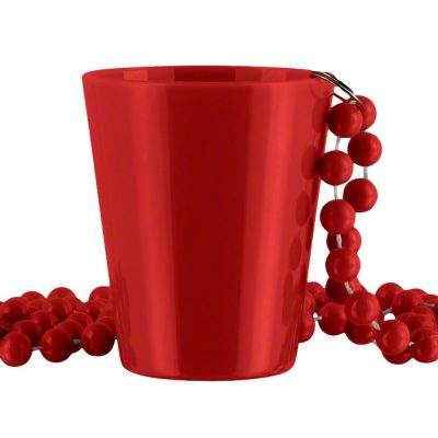 Non Light Up Red Shot Glass on Red Beaded Necklaces All Products