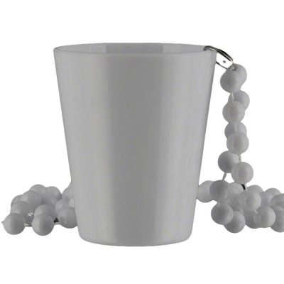 Non Light Up White Shot Glass on White Beaded Necklaces All Products