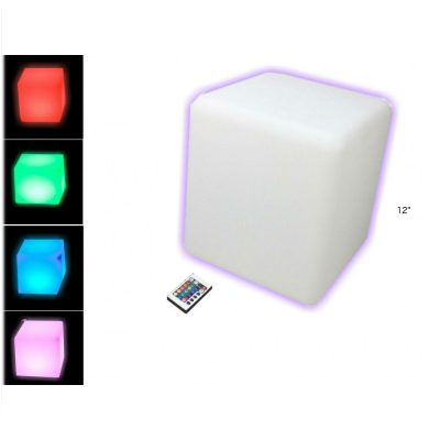 12 Inch Color Changing Cube Furniture with Bluetooth Speaker All Products