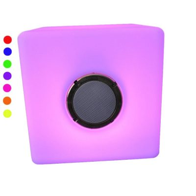 16 Inch Color Changing Cube Furniture with Bluetooth Speaker All Products