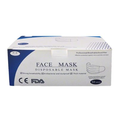 Disposable Daily Surgical Face Mask Blue Pleated Pack of 50 All Products