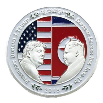 Donald Trump Shake Hands with Kim Jong-un Commemorative Silver Plated Coin All Products