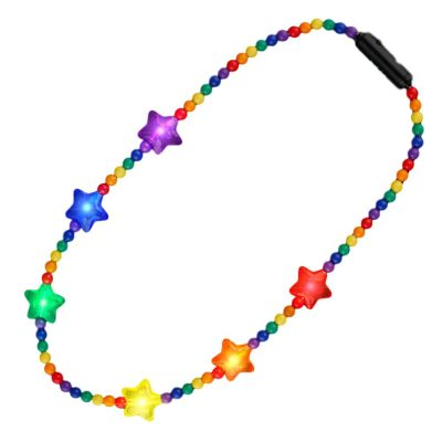 Flashing Rainbow Disco Prism Stars Fancy Party Necklace All Products