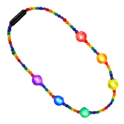 Flashing Rainbow Disco Prism Balls Fancy Party Necklace All Products