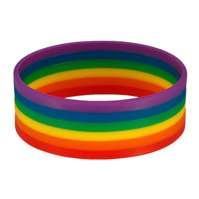 Non Light Up Rainbow Silicon Rubber Bracelet All Products