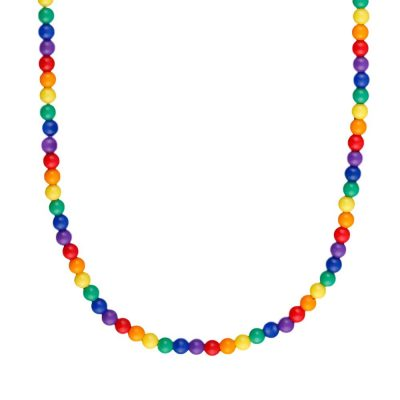 Non Light Up Rainbow Beads Necklace All Products