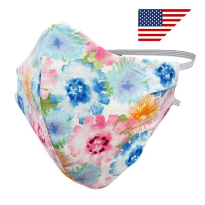 Reusable Breathable Soft Cotton Face Mask Floral Design Coronavirus Covid 19 Supplies