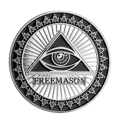 Freemason Masonic Ancient Black Silver Coin All Products