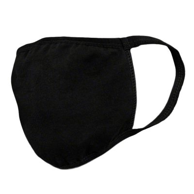 Reusable Washable Medium Size Black Face Mask with Elastic Ear Straps All Products