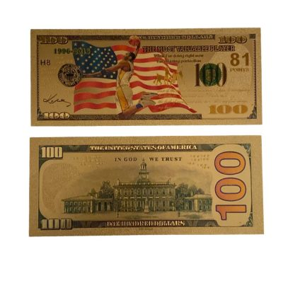 100 USD Dunk Kobe Bryant Collectible Gold Plated Fake Bank Note All Products