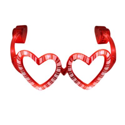 Light Up Jolly Hearts Shaped Candy Cane Christmas Valentines Sunglasses Red All Products