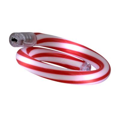 Light Up Christmas Candy Cane Tube Bracelet 4th of July