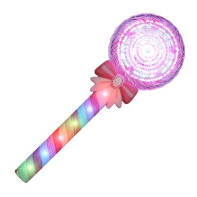 Light Up Spinning Candy Lollipop Swirl Wand 4th of July