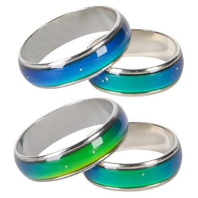 Pack of 12 Seventies Mood Rings Assortment Sizes All Products