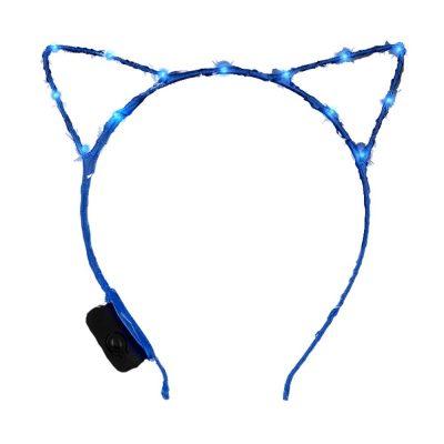 Blue LED Kitty Cat Ear Headband All Products