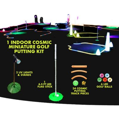 Glow in the Dark Miniature Golf Putting Kit Indoor All Products