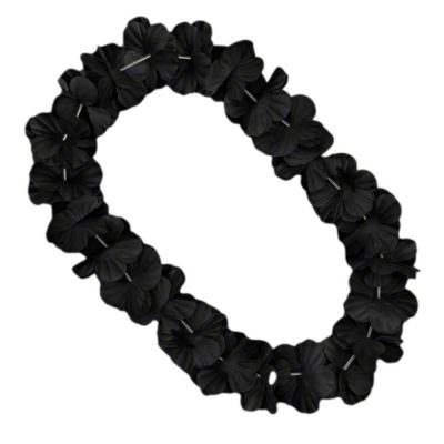 Hawaiian Flower Lei Necklace Black All Products
