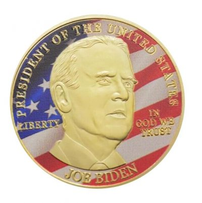 46th US President Joe Biden on USA Flag Commemorative Gold Plated Coin Build Back Better All Products