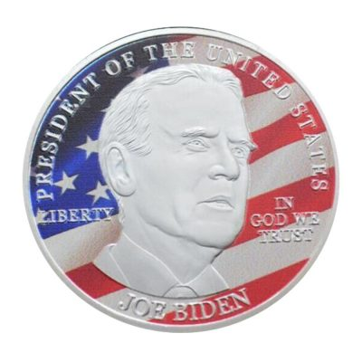 46th US President Joe Biden on USA Flag Commemorative Silver Plated Coin Build Back Better All Products