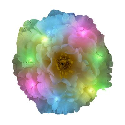 Green on Blue on Pink on White LED Flower Hair Clip All Products