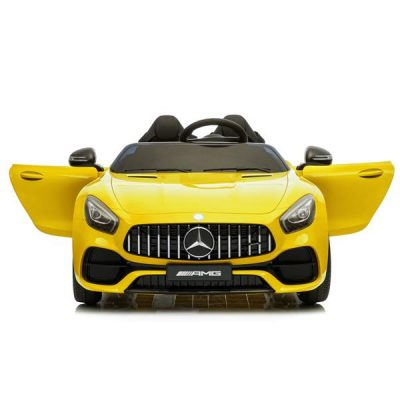 Remote Controlled Officially Licensed Benz GT Dual Drive 12V Car with Music for Kids Yellow All Products