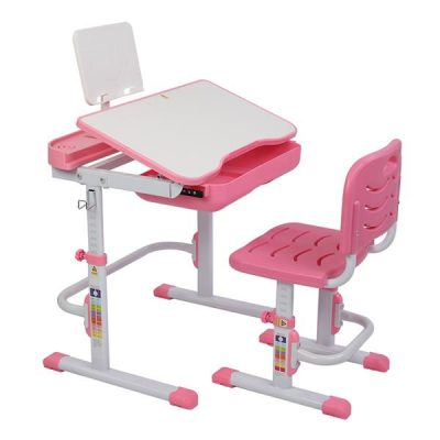 70cm Study Table and Chair for Toddlers with Lifting Method Pink All Products