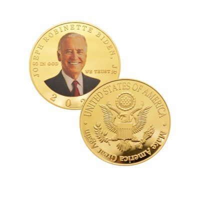 USA 2020 President Joe Biden MAGA Gold Plated Make America Great Again Coin Presidential Coins